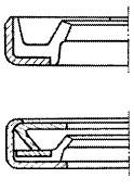 図1406 ばねなし外周金属オイルシール