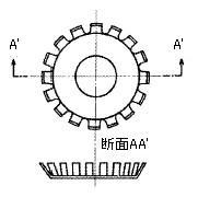 図2423 フィンガスプリング(リップパッキンの)(例1)
